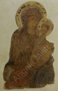 Basilica minore di Santa Maria, affresco Madonna del Pileri, ignoto.