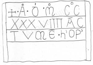 Rilievo prima iscrizione (Angela Militi)
