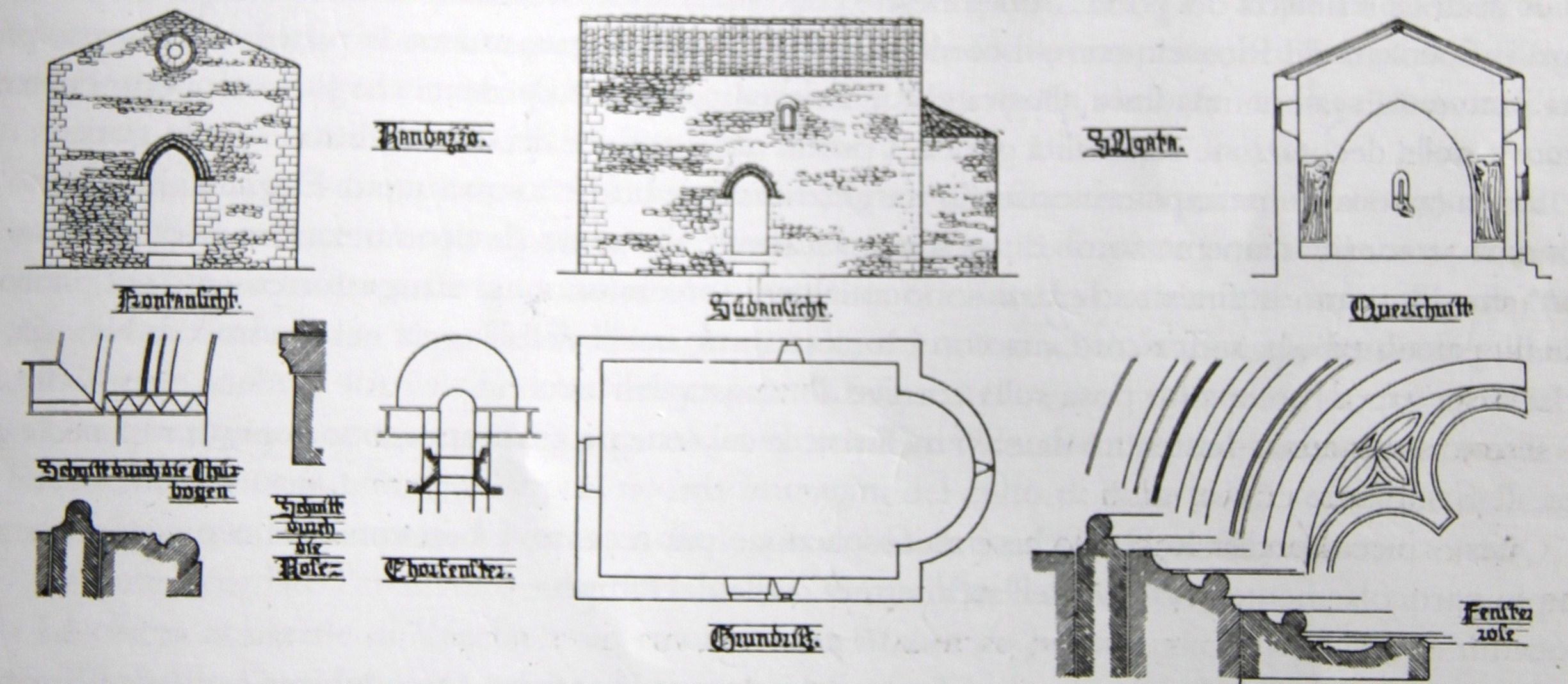 Sant agata storia di una chiesa scomparsa randazzo segreta for Planimetrie popolari
