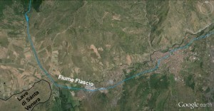 Percorso Flascio dopo eruzione 2000 a.c.